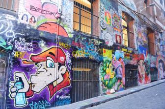 Phố tranh tường ở Melbourne