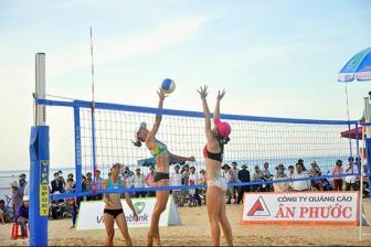 Tam Kỳ hừng hực khí thế với giải bóng chuyền bãi biển quốc tế